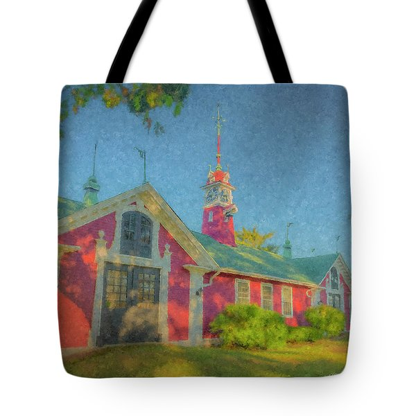 David Ames Clock Farm Tote Bag