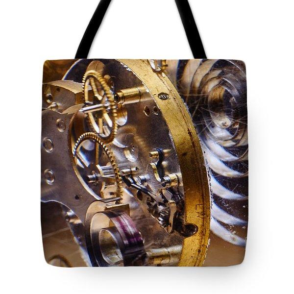 Clock Gears Tote Bag