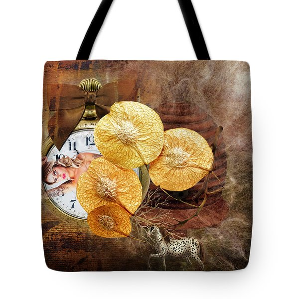Clock Girl Tote Bag