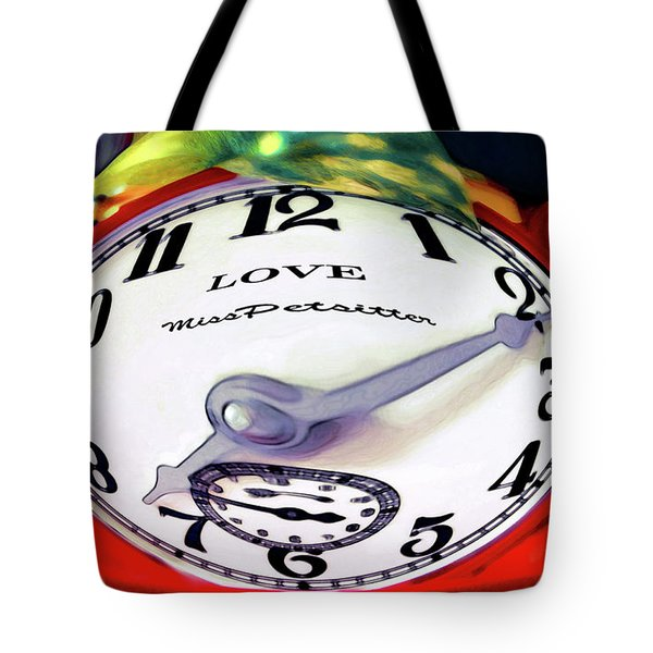 Clock In The Garden Painting 2 Tote Bag