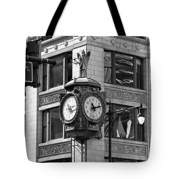 Clock On Jewelers Building - Chicago Tote Bag