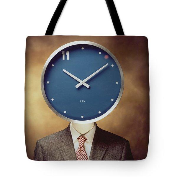 Tote Bag featuring the photograph Clockhead by Hans Janssen