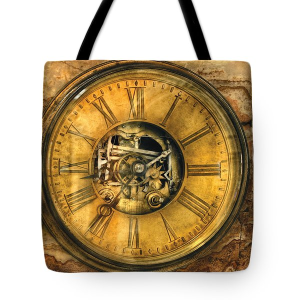 Clockmaker - Clock Works Tote Bag by Mike Savad