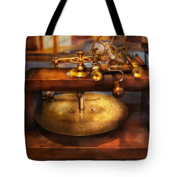 Clocksmith - The Gear Cutting Machine  Tote Bag by Mike Savad