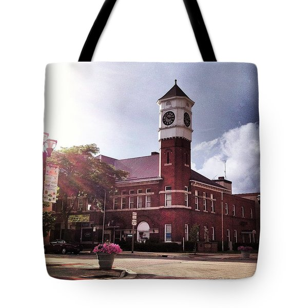 Clocktower Sunshine Tote Bag