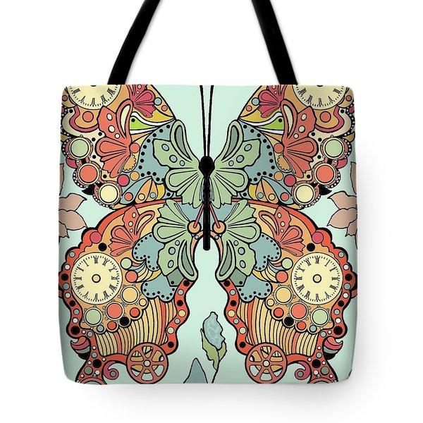Clockwork Butterfly Tote Bag