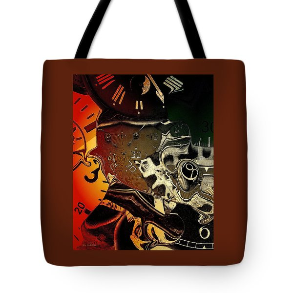 Tote Bag featuring the photograph Clockwork by Steve Godleski