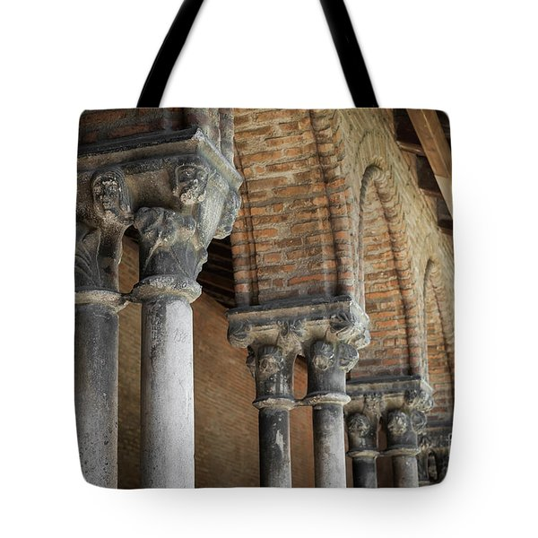 Tote Bag featuring the photograph Cloister Columns, Couvent Des Jacobins by Elena Elisseeva
