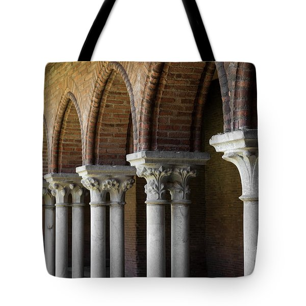 Tote Bag featuring the photograph Cloister, Couvent Des Jacobins by Elena Elisseeva