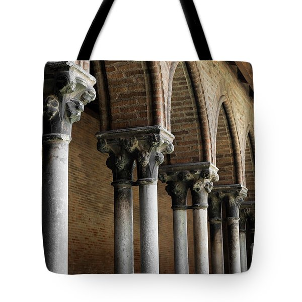 Tote Bag featuring the photograph Cloister Detail, Couvent Des Jacobins by Elena Elisseeva