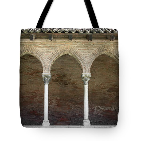 Tote Bag featuring the photograph Cloister In Couvent Des Jacobins by Elena Elisseeva