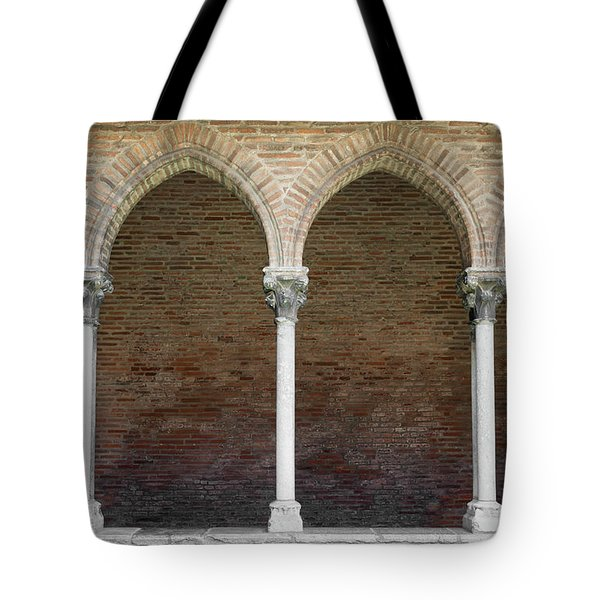 Tote Bag featuring the photograph Cloister With Arched Colonnade by Elena Elisseeva