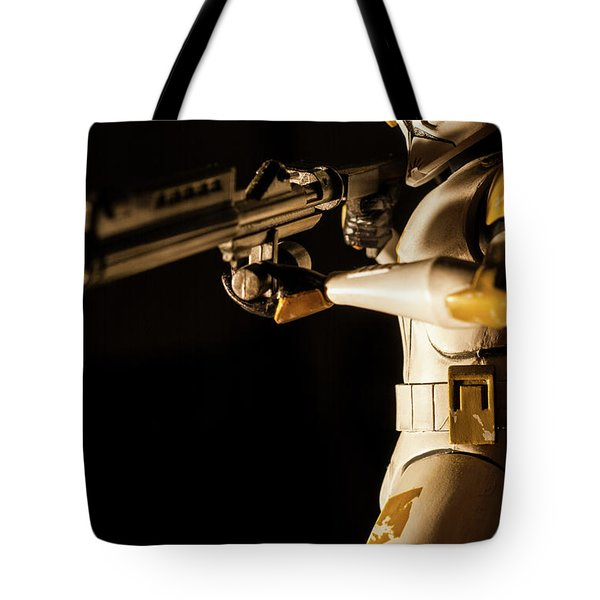 Tote Bag featuring the photograph Clone Trooper 6  by Micah May