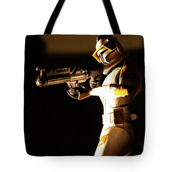 Tote Bag featuring the photograph Clone Trooper 7 by Micah May