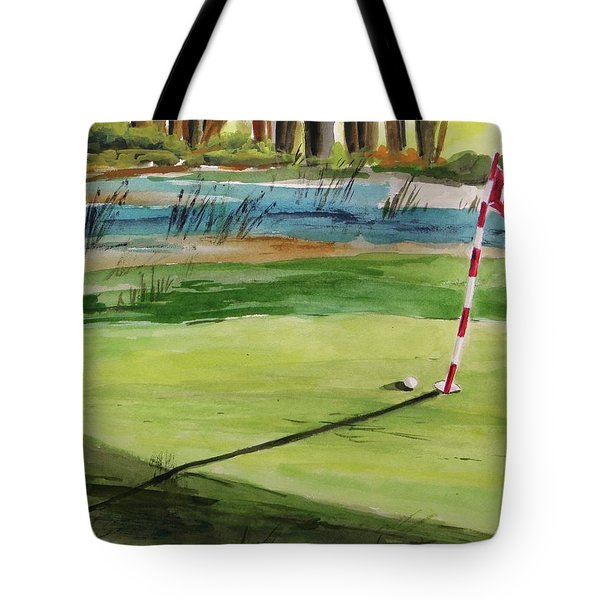 Close At The Eleventh Hole Tote Bag