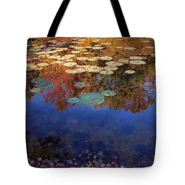 Close By The Lily Pond  Tote Bag