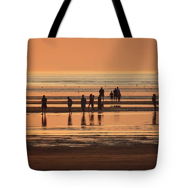 Close Of Day Rock Harbor Beach Orleans Mass Tote Bag