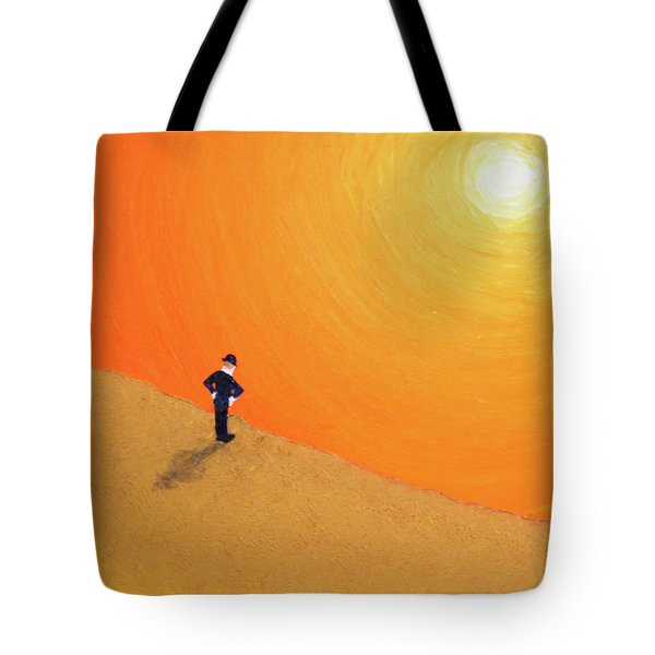 Tote Bag featuring the painting Close To The Edge by Thomas Blood