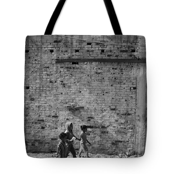 Tote Bag featuring the photograph Close To The Wall by Jez C Self