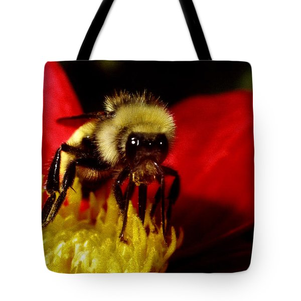 Close Up Bee Tote Bag