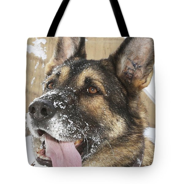 Close-up Of A Military Working Dog Tote Bag by Stocktrek Images