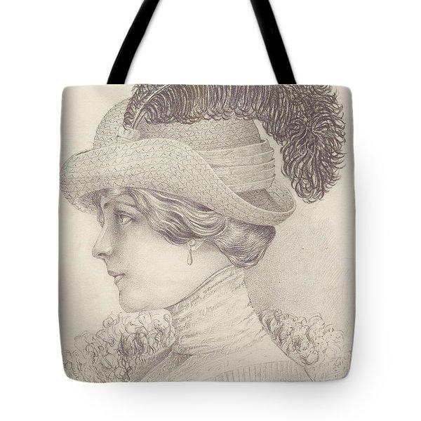 Close-up Of A Young Woman, Austria, 1910 Tote Bag