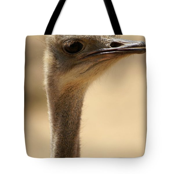 Close Up Of An Ostrich Tote Bag