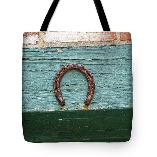Close Up Of Rusty Horseshoe Tote Bag