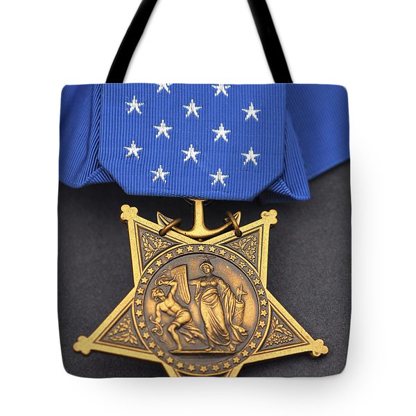 Close-up Of The Medal Of Honor Award Tote Bag by Stocktrek Images
