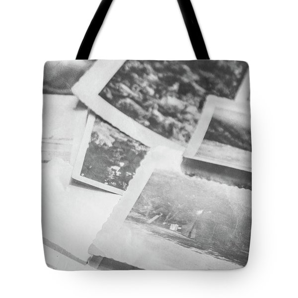 Close Up On Old Black And White Photographs Tote Bag