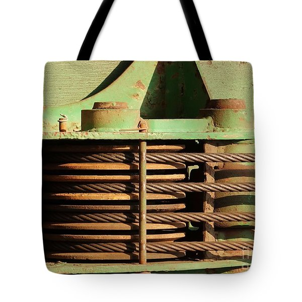 Close Up View Of Construction Equipment Tote Bag by Yali Shi