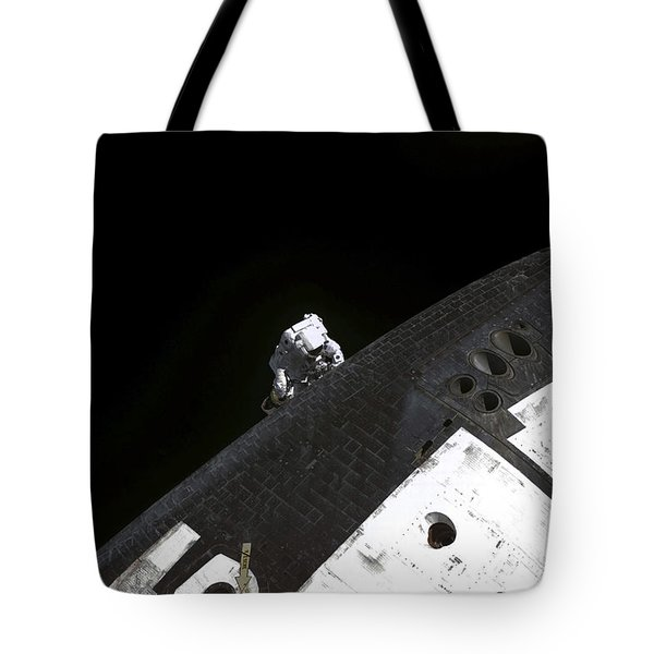 Close-up View Of The Nose Cone On Space Tote Bag by Stocktrek Images