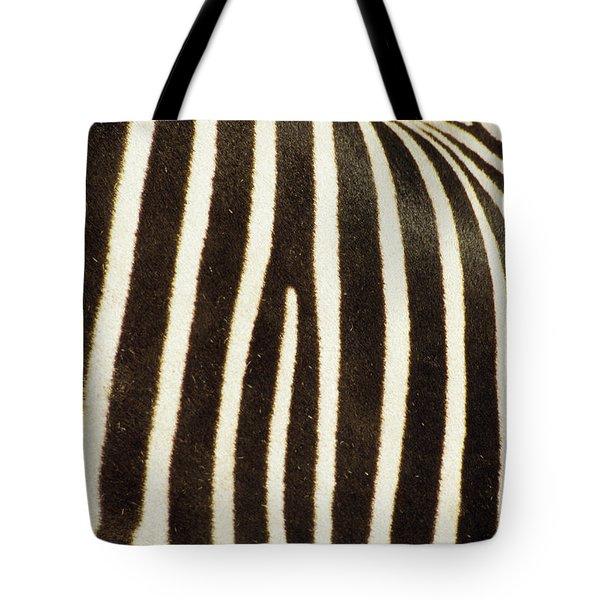 Close View Of A Zebras Stripes Tote Bag