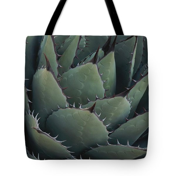 Close View Of An Agave Plant Tote Bag