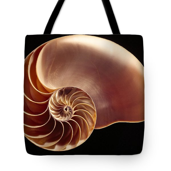 Close View Of Chambered Nautilus Tote Bag by Victor R. Boswell, Jr