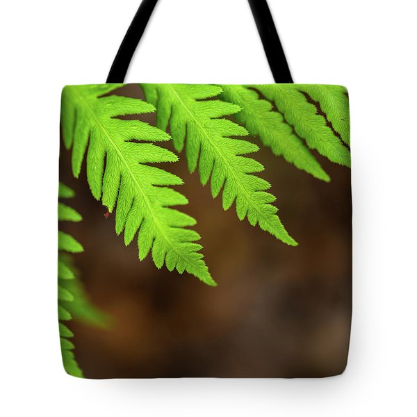 Tote Bag featuring the photograph Closeup Macro Of Green Leaves Show Textured Of The Organs With S by Jingjits Photography