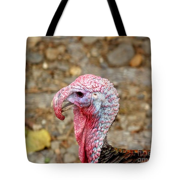 Tote Bag featuring the photograph Closeup Of A Male Turkey by Yali Shi