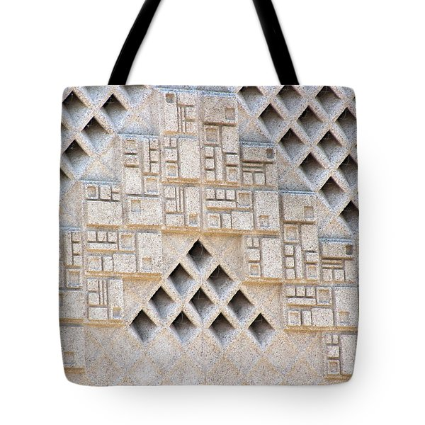Closeup Of Federal Courthouse Roswell Tote Bag