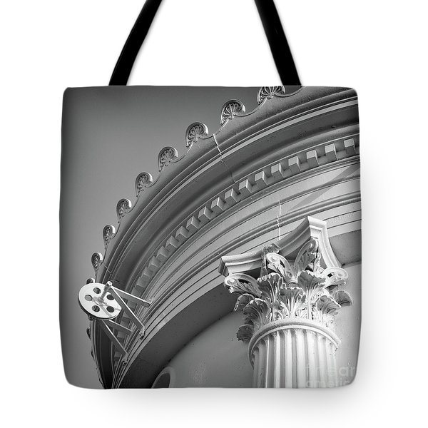 Tote Bag featuring the photograph Closeup Of Lighthouse  -58750 by John Bald