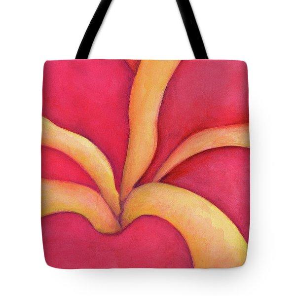 Closeup Of Red Rose Tote Bag