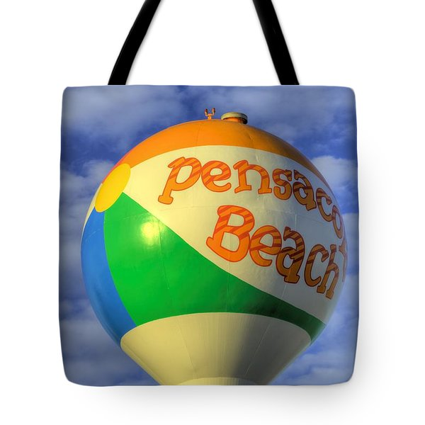 Tote Bag featuring the photograph Closeup On The Pensacola Beach Beach Ball by JC Findley