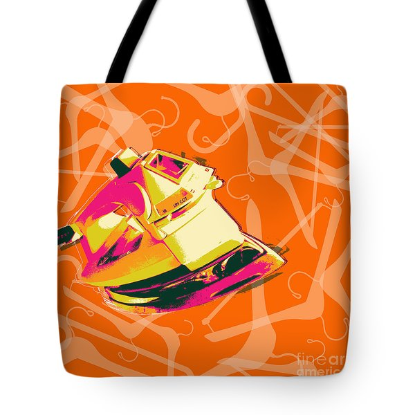 Clothes Iron Pop Art Tote Bag