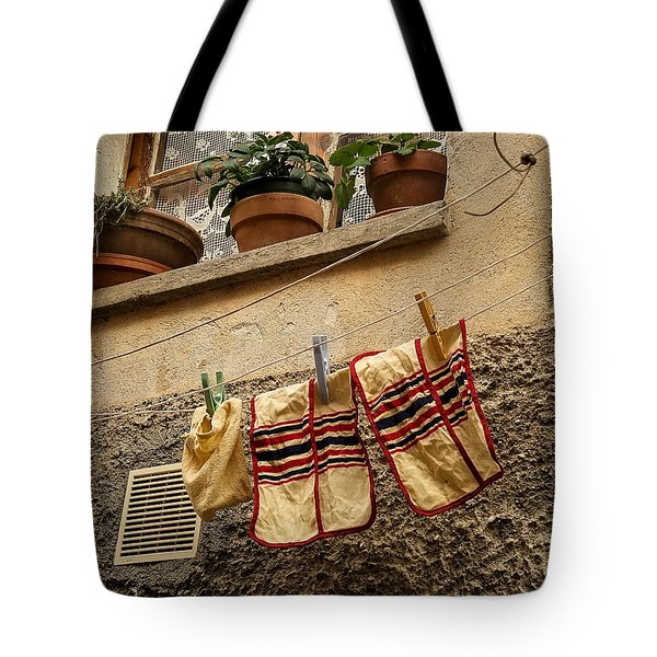 Clothesline In Biot Tote Bag