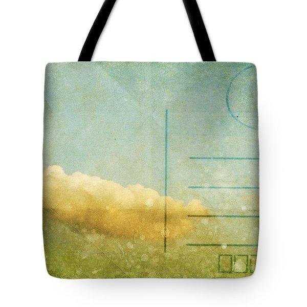 Cloud And Sky On Postcard Tote Bag by Setsiri Silapasuwanchai