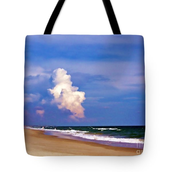 Tote Bag featuring the photograph Cloud Approaching by Roberta Byram
