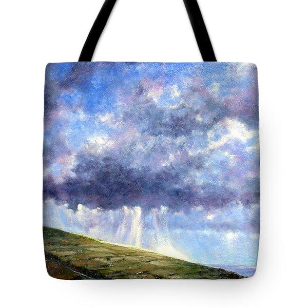 Cloud Burst Ireland Tote Bag