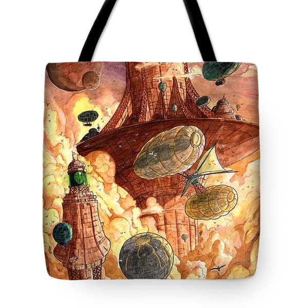 Cloud City Tote Bag by Luis Peres