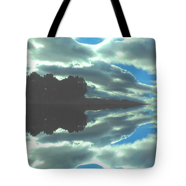 Tote Bag featuring the photograph Cloud Drama Reflections by Anastasia Savage Ealy