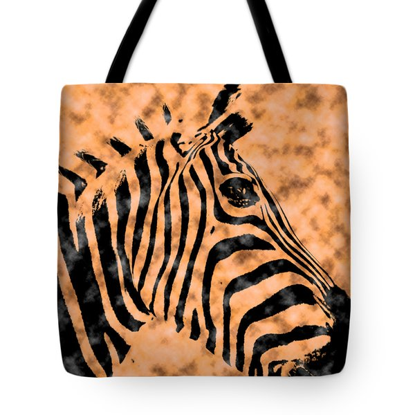 Cloud Face Zebra Tote Bag