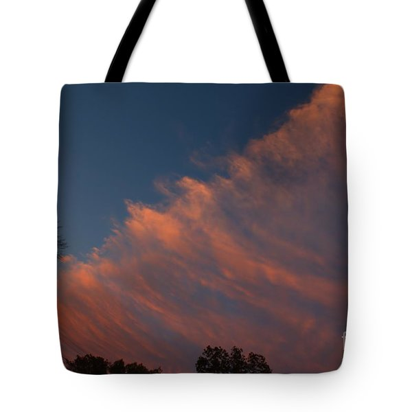 Tote Bag featuring the photograph Cloud Front At Sunset by Kenny Glotfelty